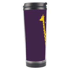 Purple Roller Skating Cute Cartoon Giraffe Travel Tumbler