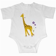Cute Roller Skating Cartoon Giraffe Infant Bodysuit