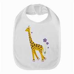 Cute Roller Skating Cartoon Giraffe Bib