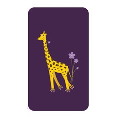 Purple Cute Cartoon Giraffe Memory Card Reader (rectangular)