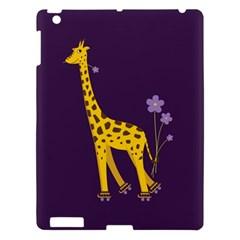 Purple Cute Cartoon Giraffe Apple Ipad 3/4 Hardshell Case by CreaturesStore
