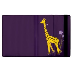 Purple Cute Cartoon Giraffe Apple Ipad 2 Flip Case by CreaturesStore