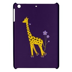 Purple Cute Cartoon Giraffe Apple Ipad Mini Hardshell Case