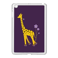 Purple Cute Cartoon Giraffe Apple Ipad Mini Case (white)
