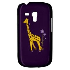Purple Cute Cartoon Giraffe Samsung Galaxy S3 Mini I8190 Hardshell Case