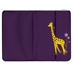 Purple Cute Cartoon Giraffe Samsung Galaxy Tab 7  P1000 Flip Case by CreaturesStore