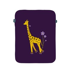 Purple Cute Cartoon Giraffe Apple Ipad Protective Sleeve by CreaturesStore