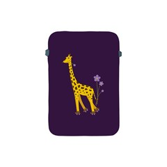 Purple Cute Cartoon Giraffe Apple Ipad Mini Protective Sleeve