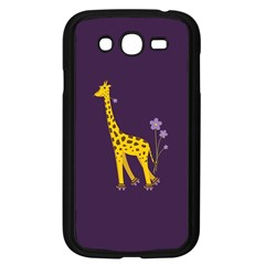 Purple Cute Cartoon Giraffe Samsung Galaxy Grand DUOS I9082 Case (Black) by CreaturesStore