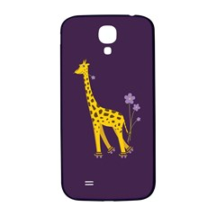 Purple Cute Cartoon Giraffe Samsung Galaxy S4 I9500/i9505  Hardshell Back Case