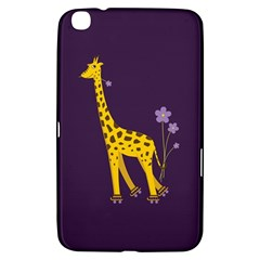 Purple Cute Cartoon Giraffe Samsung Galaxy Tab 3 (8 ) T3100 Hardshell Case  by CreaturesStore