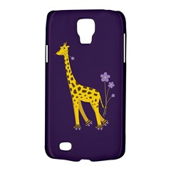 Purple Cute Cartoon Giraffe Samsung Galaxy S4 Active (i9295) Hardshell Case by CreaturesStore