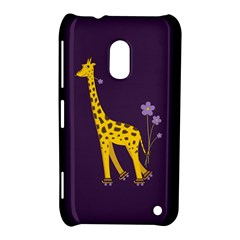Purple Cute Cartoon Giraffe Nokia Lumia 620 Hardshell Case by CreaturesStore