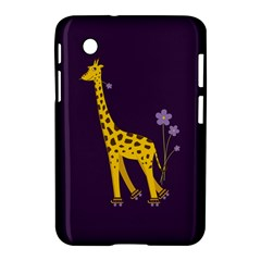 Purple Cute Cartoon Giraffe Samsung Galaxy Tab 2 (7 ) P3100 Hardshell Case