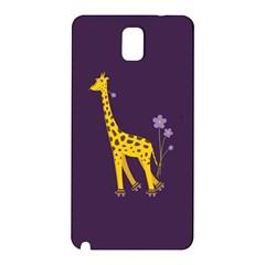 Purple Cute Cartoon Giraffe Samsung Galaxy Note 3 N9005 Hardshell Back Case