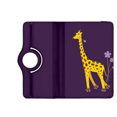 Purple Cute Cartoon Giraffe Kindle Fire Hdx 8 9  Flip 360 Case