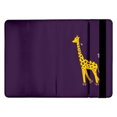 Purple Cute Cartoon Giraffe Samsung Galaxy Tab Pro 12 2  Flip Case