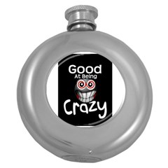 crazy Hip Flask (Round) by ukbanter