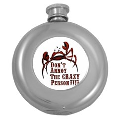 Crazy Person Hip Flask (round) by ukbanter