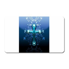 Glossy Blue Cross Live Wp 1 2 S 307x512 Magnet (rectangular) by ukbanter