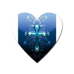 Glossy Blue Cross Live Wp 1 2 S 307x512 Magnet (heart) by ukbanter