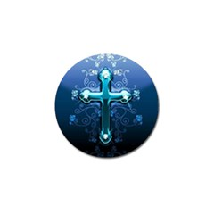 Glossy Blue Cross Live Wp 1 2 S 307x512 Golf Ball Marker 4 Pack by ukbanter
