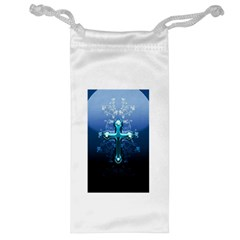 Glossy Blue Cross Live Wp 1 2 S 307x512 Jewelry Bag by ukbanter