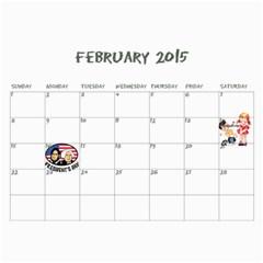 Christmas 2014 By Jill Minneman   Wall Calendar 11  X 8 5  (12 Months)   5ykr3hwabz31   Www Artscow Com Feb 2015