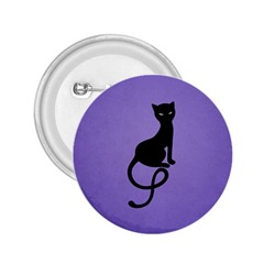 Purple Gracious Evil Black Cat 2 25  Button