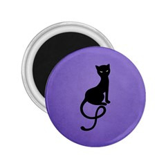 Purple Gracious Evil Black Cat 2 25  Button Magnet