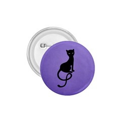 Purple Gracious Evil Black Cat 1 75  Button