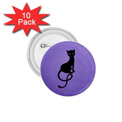 Purple Gracious Evil Black Cat 1 75  Button (10 Pack)