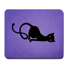 Purple Gracious Evil Black Cat Large Mouse Pad (rectangle) by CreaturesStore