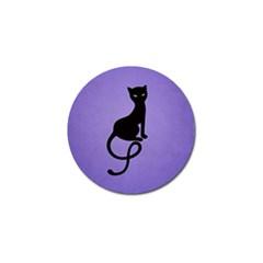 Purple Gracious Evil Black Cat Golf Ball Marker 4 Pack