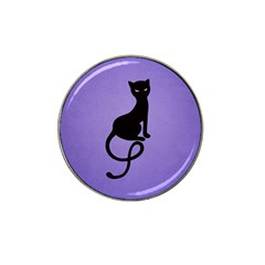 Purple Gracious Evil Black Cat Golf Ball Marker 4 Pack (for Hat Clip) by CreaturesStore