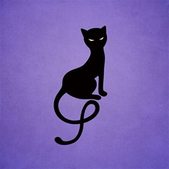 Purple Gracious Evil Black Cat Canvas 12  X 12  (unframed)