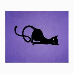 Purple Gracious Evil Black Cat Glasses Cloth (small, Two Sided) by CreaturesStore