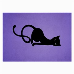 Purple Gracious Evil Black Cat Glasses Cloth (large, Two Sided)