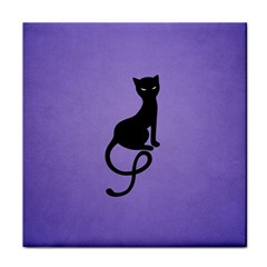 Purple Gracious Evil Black Cat Face Towel