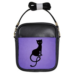 Purple Gracious Evil Black Cat Girl s Sling Bag