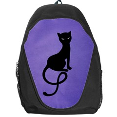 Purple Gracious Evil Black Cat Backpack Bag by CreaturesStore
