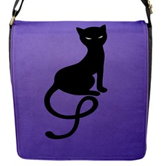 Purple Gracious Evil Black Cat Removable Flap Cover (small)