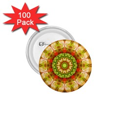 Red Green Apples Mandala 1.75  Button (100 pack) by Zandiepants