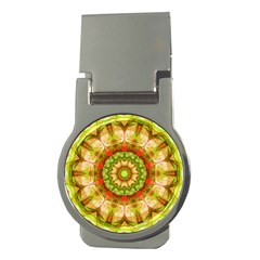 Red Green Apples Mandala Money Clip (round) by Zandiepants