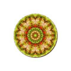 Red Green Apples Mandala Drink Coaster (round) by Zandiepants
