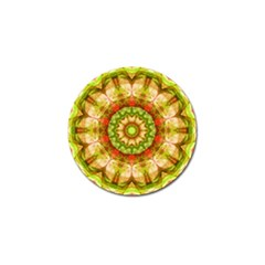 Red Green Apples Mandala Golf Ball Marker 10 Pack by Zandiepants