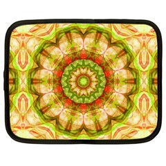 Red Green Apples Mandala Netbook Sleeve (xxl) by Zandiepants