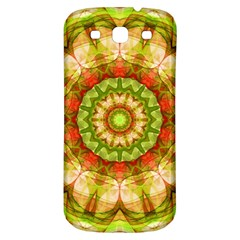 Red Green Apples Mandala Samsung Galaxy S3 S Iii Classic Hardshell Back Case by Zandiepants