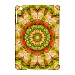 Red Green Apples Mandala Apple Ipad Mini Hardshell Case (compatible With Smart Cover) by Zandiepants