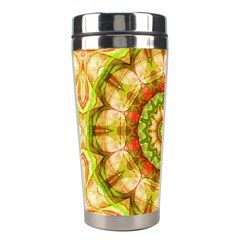 Red Green Apples Mandala Stainless Steel Travel Tumbler by Zandiepants